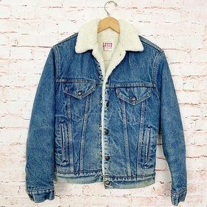 Vintage Levi's Sherpa Denim Jacket 40R Made in USA